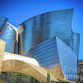 Gehry Walt Disney Concert Hall Color  by Chuck Kuhn