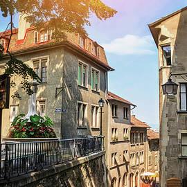 Geneva Switzerland Old Town Rue du Perron  by Carol Japp