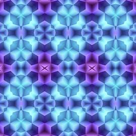 Geometric in Blue by Grace Iradian