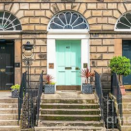 Georgian doorways, Edinburgh new town, Scotland by Neale And Judith Clark