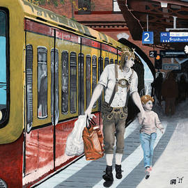 German Elf Train Town Shopping by Ted Helms