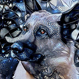 German Shepherd Dog Art by Peggy Collins