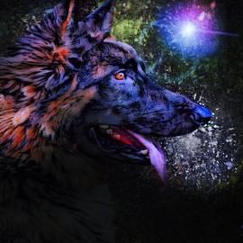 German Shepherd Dog by Scott Wallace Digital Designs