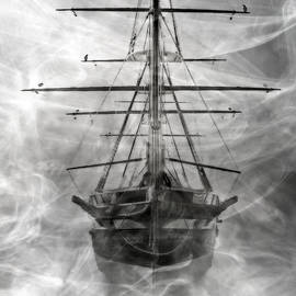 Ghost Ship - Grayscale by Brian Wallace