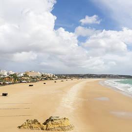 Giant Golden Beach - Praia da Rocha Beach Portimao Portugal by Georgia Mizuleva