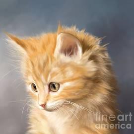 Ginger Kitten by Monique Lap Art
