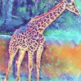 Giraffe In Pastel by Kirt Tisdale