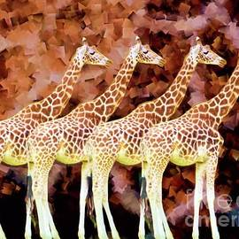 Giraffes mosaic by Chris Bee Photography