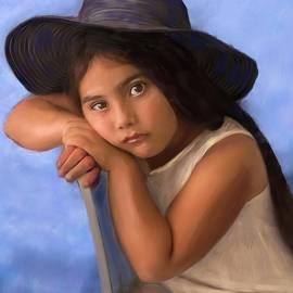 Girl in Black Floppy Hat by Katherine Katsenis