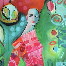 Girl in red dress by Johanna Virtanen