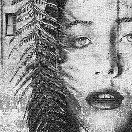 Girl on Brick Wall Street Art