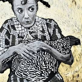 Girl With A Chicken by David Hinds