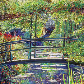 Giverny Footbridge Sunlight by David Lloyd Glover
