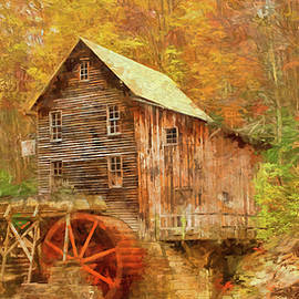 Rustic Glade Creek Grist Mill by Ola Allen