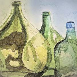 Glass Bottles by Angela Davies
