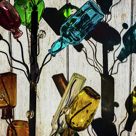 Glass Bottles Color Painterly by David Gordon