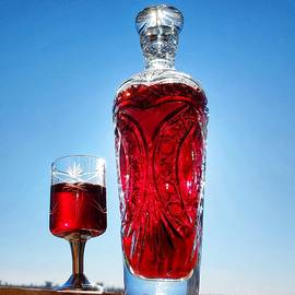 Glass Decanter with Wine by Alex Mir