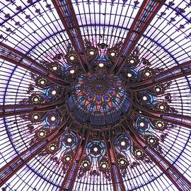 Glass Dome in the Paris Gallery De LaFayette by Barbara Ebeling