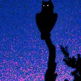Glittering Great Horned Owl by Judy Kennedy