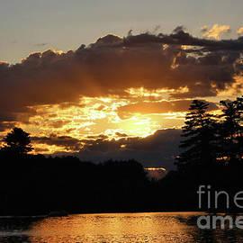 Glorious Golden Sunset over Woodbury  by Sandra Huston