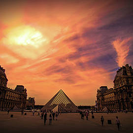 Glorious Louvre Sunset by Marylou Badeaux