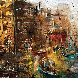 Glowing Varanasi-India by Suvarna Dheringe