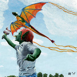 Goblin Flying Dragon Kite by Ted Helms