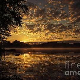God's Beauty Reflected on Cobbosseecontee Stream by Jan Mulherin