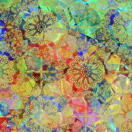 Gold  Arabesque Tile by Grace Iradian