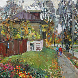 Gold autumn in the Krasnoye na Volge by Juliya Zhukova