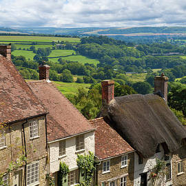 Gold Hill, Shaftesbury, Dorset, England by Neale And Judith Clark