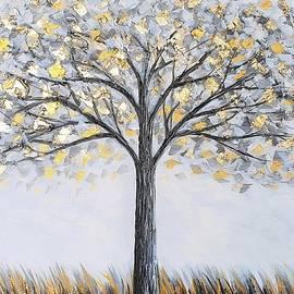 Gold Leaf Tree by Jessica T Hamilton