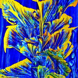 Gold On Blue Bouquet by Joyce Dickens