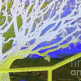 Golden and silver colors winter tree by Zenya Zenyaris