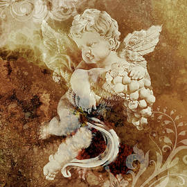 Golden Cherub by Grace Iradian