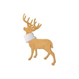 Golden Christmas deer by Irma Duckett