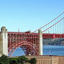 Golden Gate Bridge, Panoramic View by Lyuba Filatova