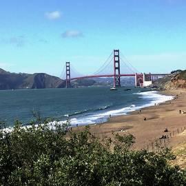 San Francisco Bay, California Golden Gate Bridge -- Baker's Beach by Catherine Ludwig Donleycott