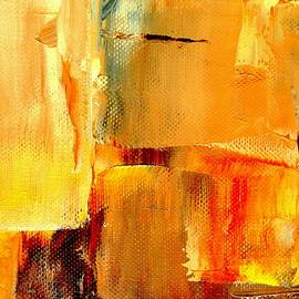 Golden Glow Abstract Square by VIVA Anderson