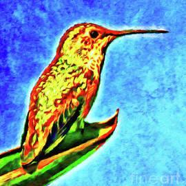 Golden Hummingbird by Jerome Stumphauzer
