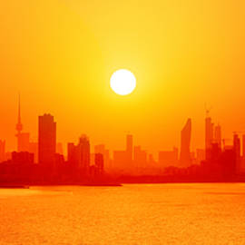 Golden Shores Of Kuwait by Iryna Goodall