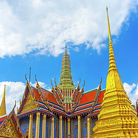 Golden Stupas and Temple, Bangkok by Brian Shaw