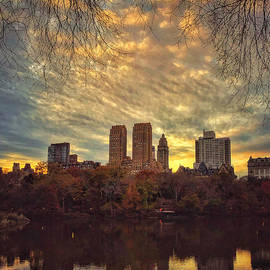 Golden City Sunset - New York by Miriam Danar