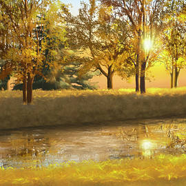 Golden sunset by Veronica Minozzi