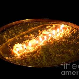 Golden Tibetan Butter Lamp by Birgit Moldenhauer