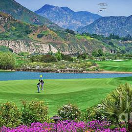 Golfing on a Beautiful Day by David Zanzinger