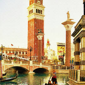 Gondola ride at Venetian, Las Vegas by Tatiana Travelways