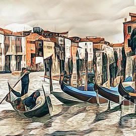 Gondolas on the Grand Canal, Venice by Brian Tarr