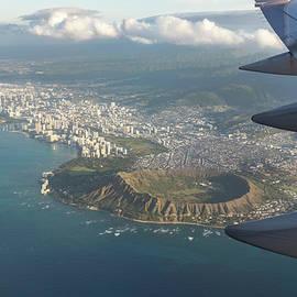 Goodbye Hawaii - Diamond Head Volcano Crater Waikiki and Honolulu Aerial