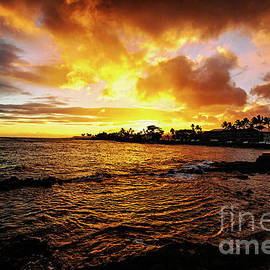 Gorgeous Kauai Sunset on the West Side of the Island by Scott Pellegrin